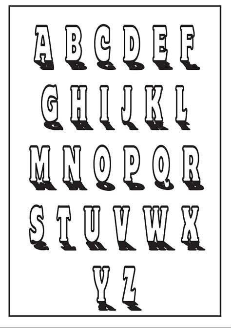 alphabet letters in different styles 8 best images of free printable lettering styles 3d