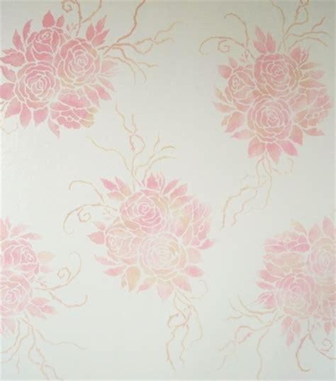 wall stencil antique roses walls stencils plaster