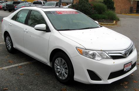 2012 Toyota Camry Le by File 2012 Toyota Camry Le 10 19 2011 Jpg Wikimedia