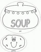 Soup Coloring Pages Stone Template Potato Colouring Pot Vegetable Printable Bowl Sheets Templates Crafts Dltk Milk Popular Chocolate Drawing Soups sketch template