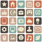 Social Website Transparent Icons Retro Killing