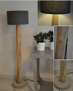 Luminaire En Bois Flotté : lampadaire bois flotte maison design ~ Teatrodelosmanantiales.com Idées de Décoration