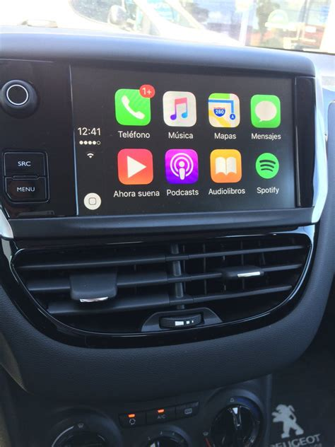 carplay installs factory fitted    peugeot