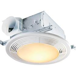 nutone decorative white 100 cfm ceiling exhaust bath fan
