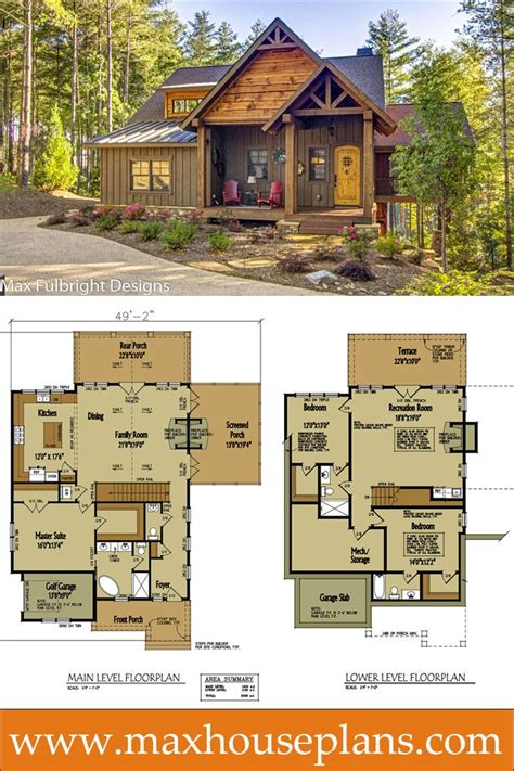 cottage floorplans small cabin home plan with open living floor plan open