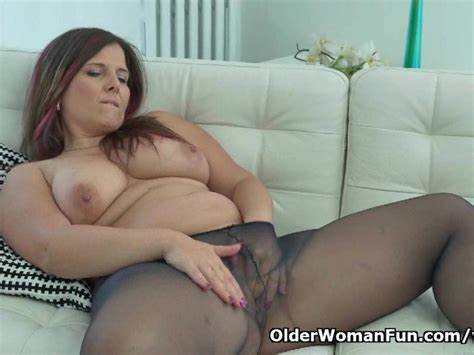 Euro Brunette Joi In Layered Nylons Delicious Babysitter Riona Wears Superb Clothing