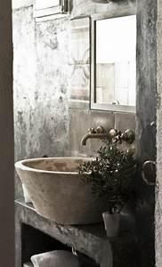 le lavabo en pierre en 61 photos et des astuces deco With lavabo pierre salle de bain