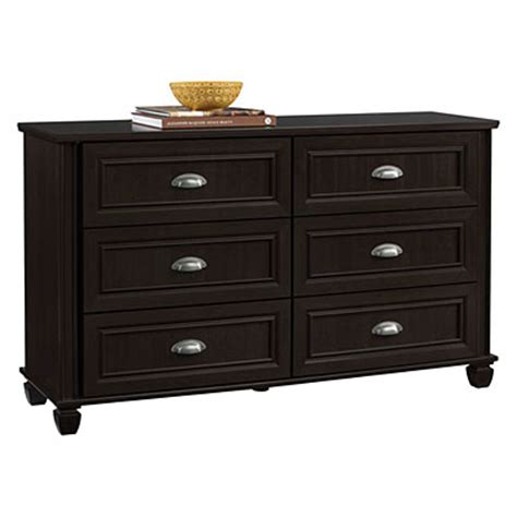 ameriwood dresser assembly ameriwood 6 drawer russet cherry finish dresser