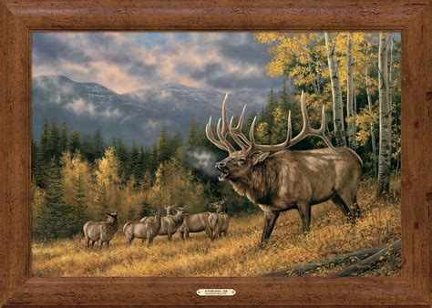 autumn song elk framed gallery canvas wild wings