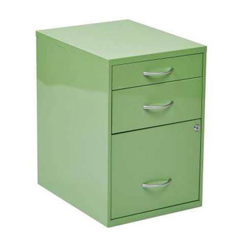 home depot metal cabinets ospdesigns 22 in 3 drawer metal file cabinet in green