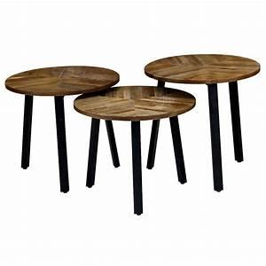 Table D Appoint Gigogne : tables d 39 appoint gigognes rondes style industriel et loft zago store ~ Teatrodelosmanantiales.com Idées de Décoration
