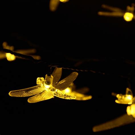 solar string lights 6m 30 led 8 modes dragonfly