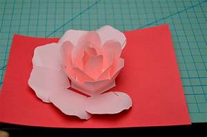 rose flower pop up card tutorial creative pop up cards With flower pop up card templates