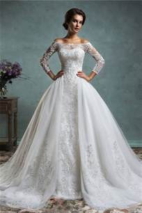 wedding dresses 100 dollars unique mermaid vintage lace sleeve wedding dress with detachable skirt jacket wedding