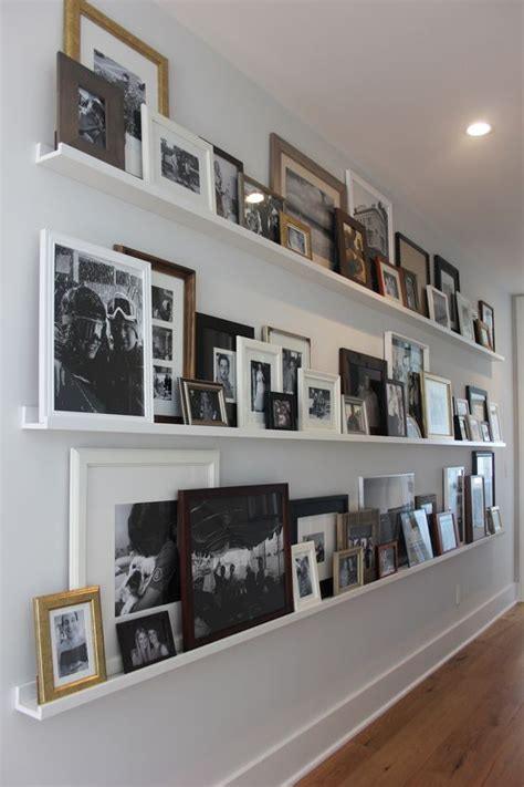 gallery ledge shelves 28 ideas to create a photo gallery wall on ledges shelterness