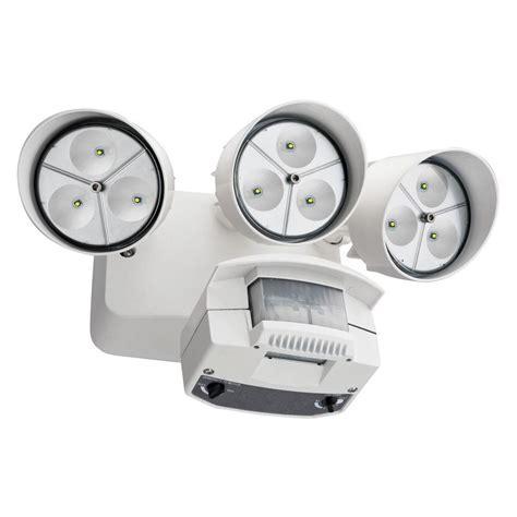 lithonia lighting white motion sensor outdoor flood light