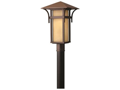 hinkley lighting harbor anchor bronze led outdoor post