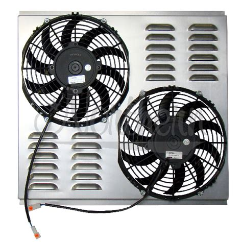dual electric fans with shroud northern factory dual 10 quot electric fan shroud 18 1 8