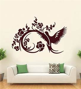 buy hoopoe decor brown vinyl parrot abstract design wall With best brand of paint for kitchen cabinets with what is a decal sticker