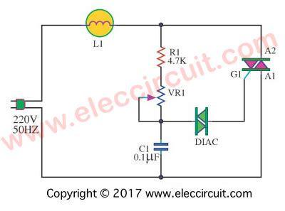 Dimmer Circuit Using Scr Triac Eleccircuit