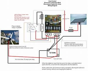 Solar Wind Turbine Generator Charge Load Controller