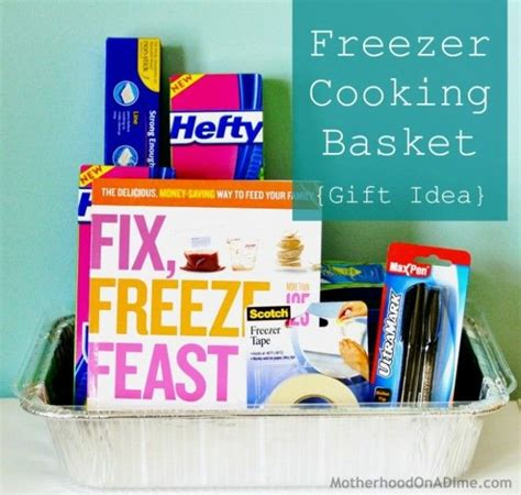 do it yourself homemade freezer cooking gift basket