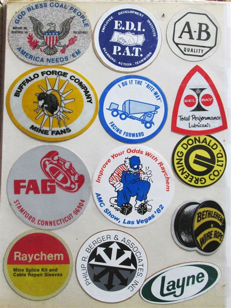more mining stickers from my hubby s album collection