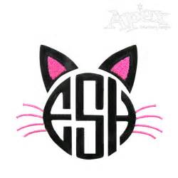 monogrammed fonts cat monogram embroidery design