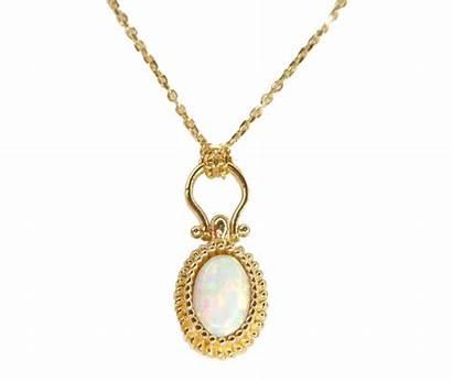 Gouden Ketting Opaal Hanger Geel Kopen Zet