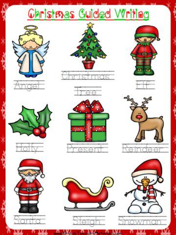 christmas guided writing worksheet  writing
