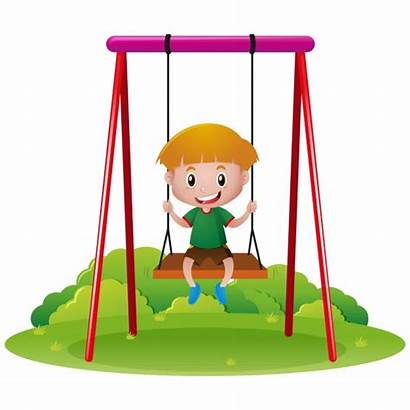 Vector Swing Playing Boy Columpio Swings Freepik