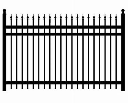 Fence Iron Fencing Gate Transparent Clipart Aluminum