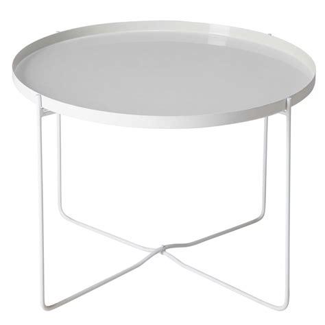 bout de canapé blanc laqué meuble blanc gris