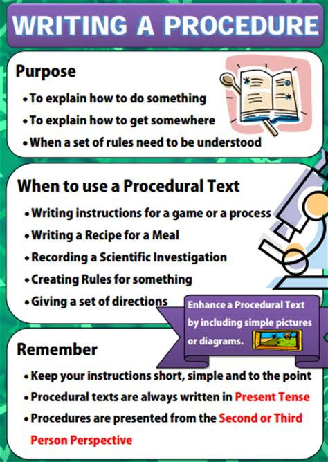 procedural writing 2 poster series on writing a procedure text