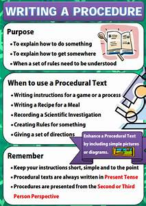 Writing Policies And Procedures Template 2 Poster Series On Writing A Procedure Text