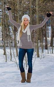 Hickory Bearpaw outfit / Tan Bearpaw Boots Outfit / Light Brown Bearpaw Outfit with Grey Sweater ...