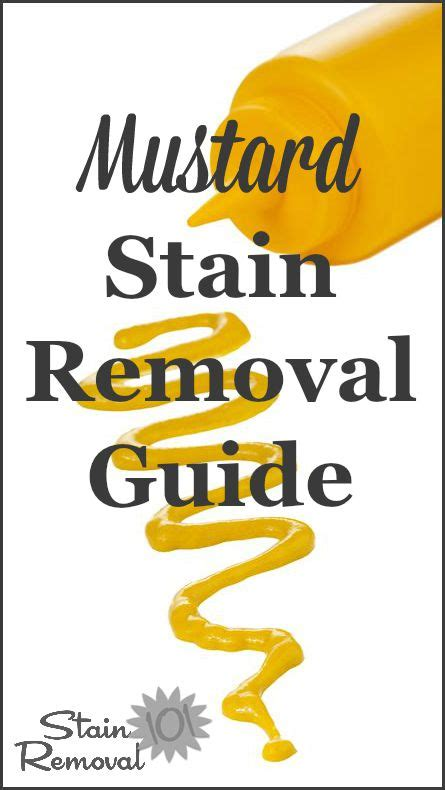 how do you get mustard out of clothes mustard stain removal guide