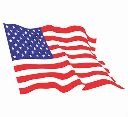 Flag American Clipart Waving Usa Flowing Cliparts