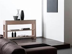 Console Chene Clair : console marina en ch ne semi massif 3 plateaux 2 tirois meubles bois massif ~ Teatrodelosmanantiales.com Idées de Décoration