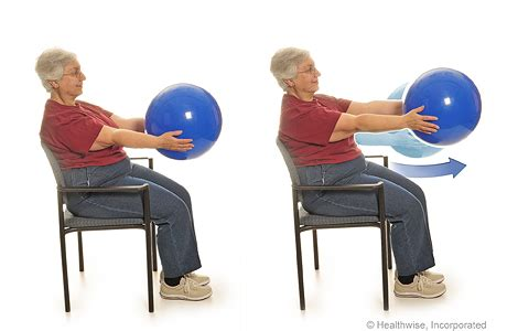 program b seated exercises with a ball michigan medicine