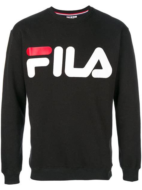fila logo sweatshirt  black  men lyst