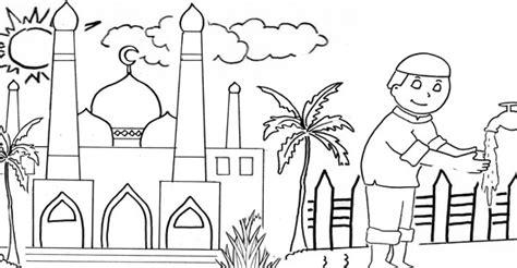 55 gambar mewarnai masjid dan orang koleksi istimewa