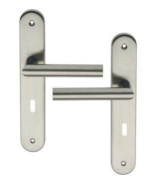 poignée de porte design poign 233 e de porte int 233 rieure design en inox mat sur plaque