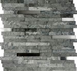 mosaic tile for kitchen backsplash sample gray stainless steel insert mosaic tile kitchen backsplash ebay