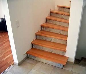 Holzstufen Auf Beton : holzstufen auf betontreppe buche trittstufen ohne setzstufen ~ Michelbontemps.com Haus und Dekorationen