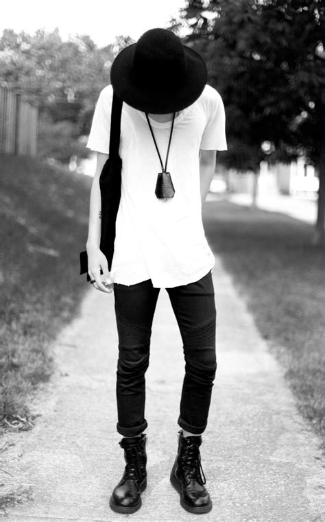 White t shirt black jeans shoes fashion men tumblr streetstyle hipster | Clothing | Pinterest ...