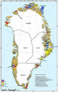 Map Of Greenland Showing All Local Gic  Colour Coded  And