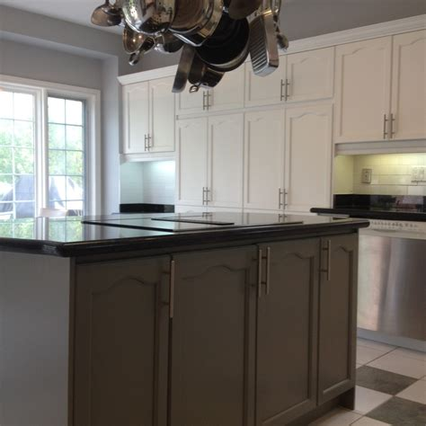 painting oak cabinets grey spray painted oak kitchen cabinet refinishing spray