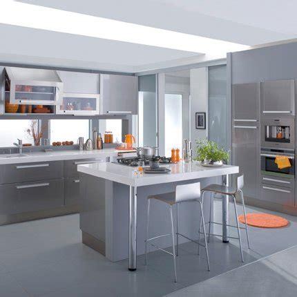 cuisine silver grise en mélamine lapeyre maison