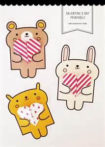 Printable Animal Valentine Cards